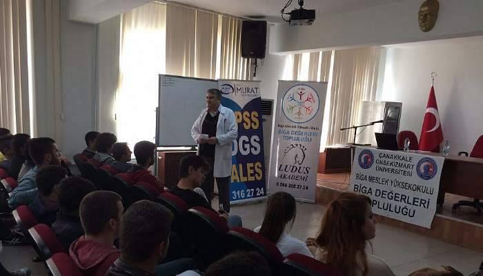 Biga'da DGS ve KPSS ön lisans semineri