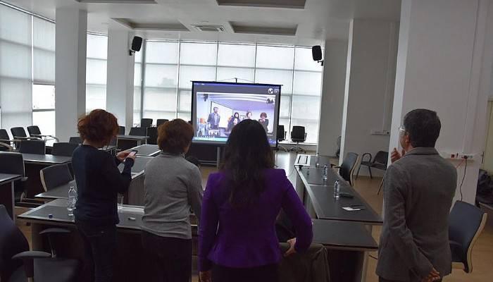 Başkan Gökhan'a videolu doğum günü sürprizi