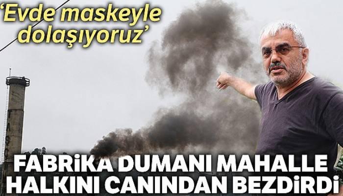 Fabrika dumanı mahalle halkını canından bezdirdi
