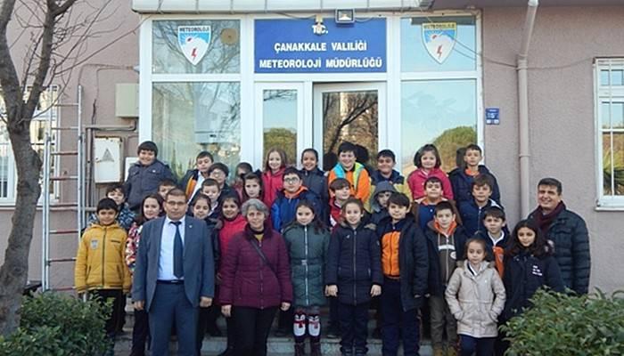 Minik Öğrencilerden Meteorolojiye Ziyaret