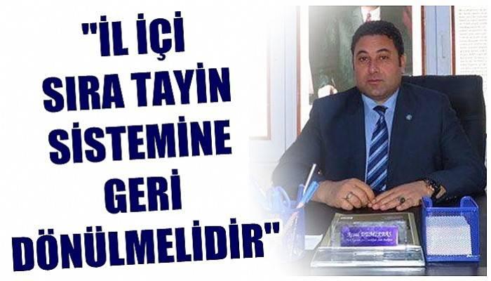 Türk Eğitim-Sen Çanakkale Şube Başkanı Demirbaş'ın tayin açıklaması