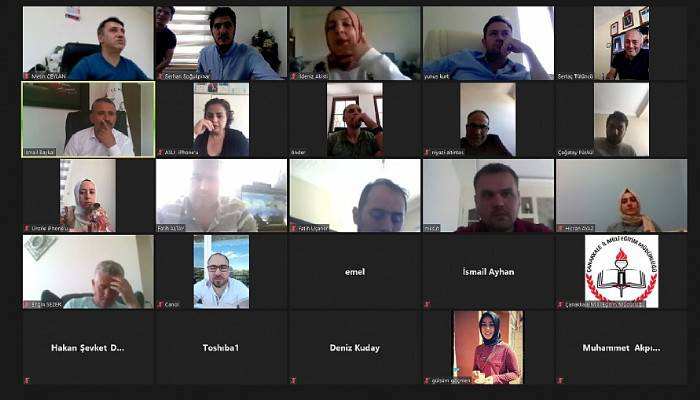 LGS öncesi bilgilendirme toplantısı video konferans ile yapıldı