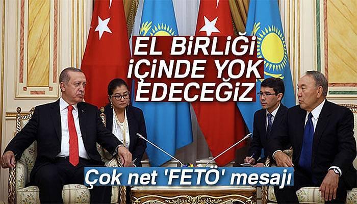 Kazakistan'da çok net 'FETÖ' mesajı