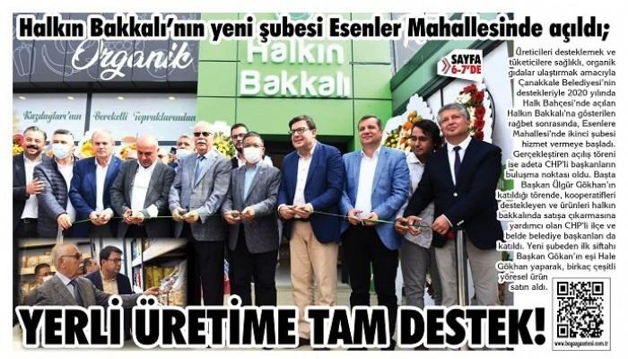 Halkın Bakkalı'nın yeni şubesi Esenler Mahallesinde açıldı; YERLİ ÜRETİME TAM DESTEK!