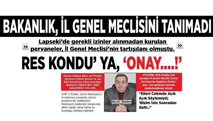 BAKANLIK, İL GENEL MECLİSİNİ TANIMADI