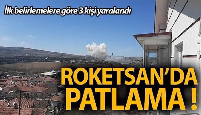 Roketsan'dan bir patlama meydana geldi