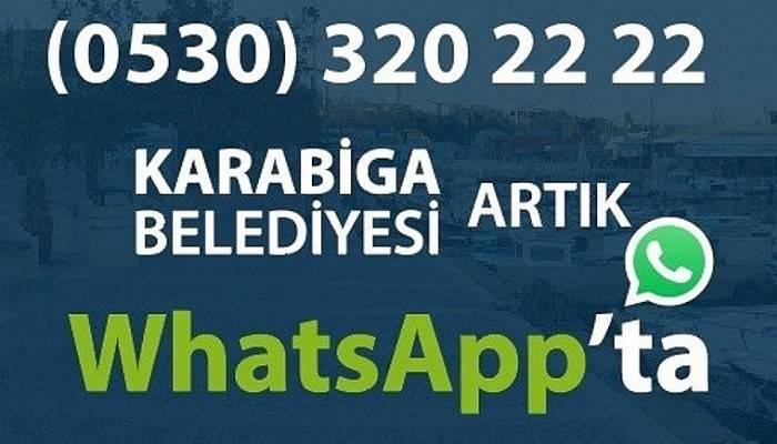 Karabiga Belediyesi, WhatsApp İhbar Hattı Kurdu