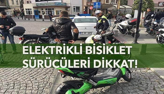 Çanakkaleli elektrikli bisiklet sürücüleri dikkat!