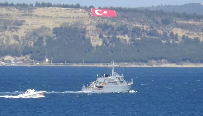 Çanakkale Boğazı'ndan Bulgar mayın avcı gemisi geçti