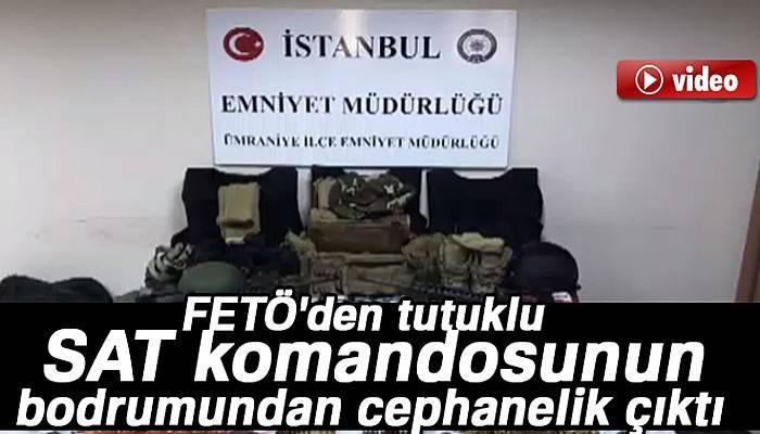 FETÖ'den tutuklu SAT komandosunun bodrumundan cephanelik çıktı