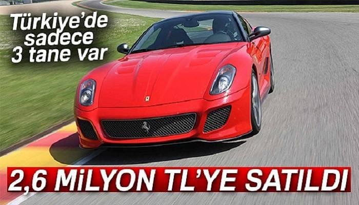 Türkiye'de 3 adet bulunan araç 2,6 milyon TL'ye satıldı