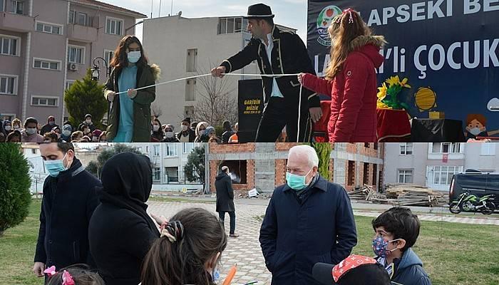 Lapseki'de çocuklara pandemi eğlencesi