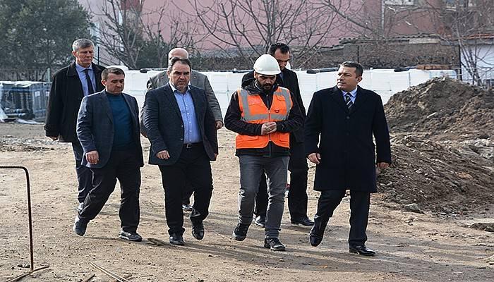Kaymakam, Şahin'den okul inşaatında inceleme