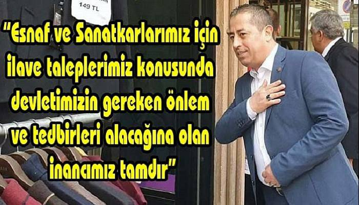 Birlik Başkanı Özcan, esnafın beklenti ve taleplerini sıraladı!