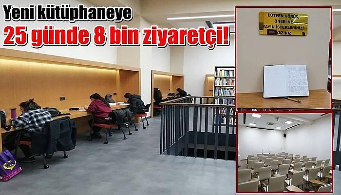 Yeni kütüphaneye 25 günde 8 bin ziyaretçi!
