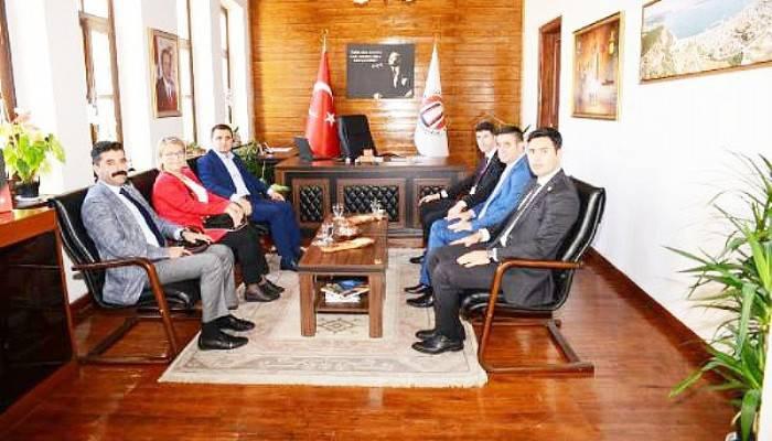 Alan Başkanı Kaşdemir'den, Kaymakam Ongu'ya Ziyaret