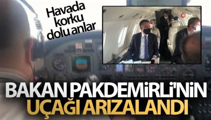 Bakan Pakdemirli'nin uçağı arızalandı (VİDEO)