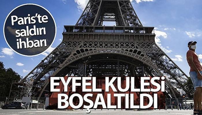 Eyfel Kulesi, bomba ihbarı nedeniyle boşaltıldı (VİDEO)