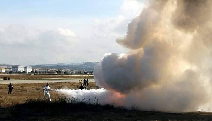 Çanakkale Havalimanında yangın tatbikatı