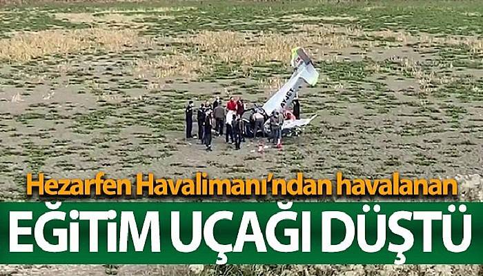 Eğitim uçağı düştü (VİDEO)
