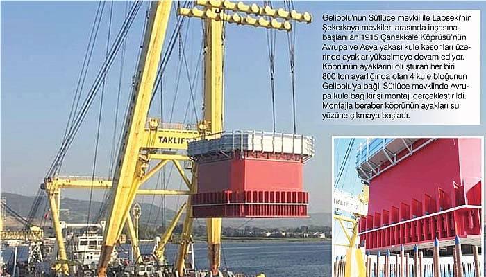 1915 Çanakkale Köprüsü'nün kule ayakları su yüzüne çıktı