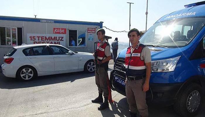 Jandarmadan havadan karadan güvenlik kontrolü (VİDEO)