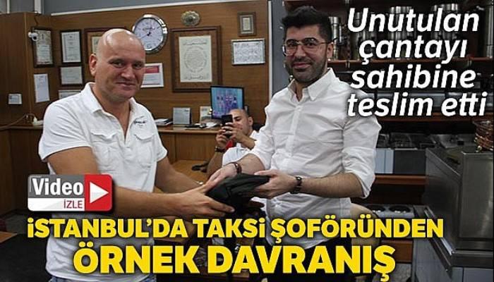 İstanbul'da taksi şoföründen örnek davranış