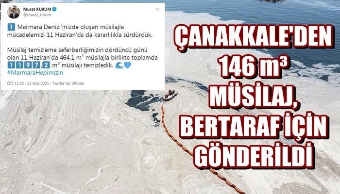 'Marmara Denizi'nde 1197,2 metreküp müsilajı temizledik'
