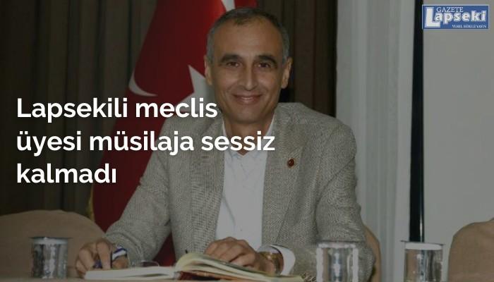 Lapsekili meclis üyesi müsilaja sessiz kalmadı