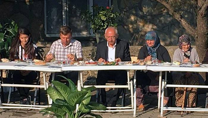Kılıçdaroğlu, köylülerle kahvaltı yaptı (VİDEO)