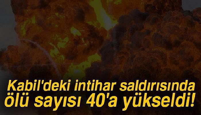 Kabil'deki intihar saldırısında ölü sayısı 40'a yükseldi