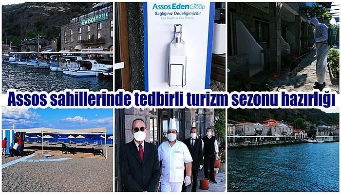 Assos sahillerinde tedbirli turizm sezonu hazırlığı (VİDEO)