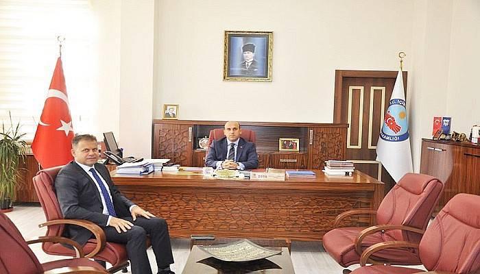 Biga'nın Yeni Emniyet Müdürü, Kaymakam ve Belediye Başkanını Ziyaret Etti