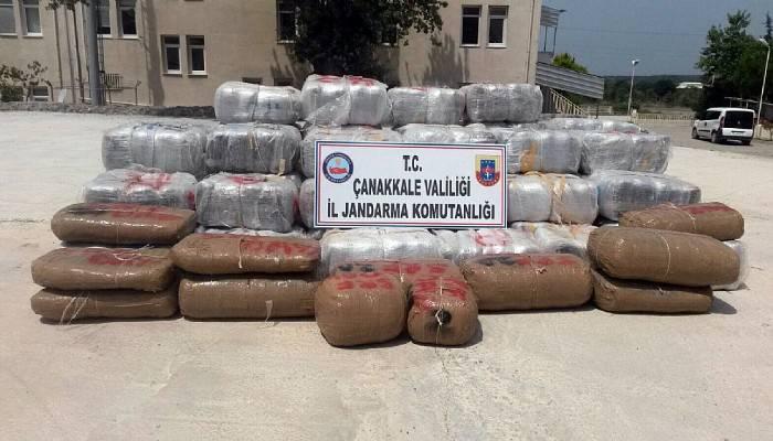 Çanakkale'de 1,5 ton esrar yakalanması...