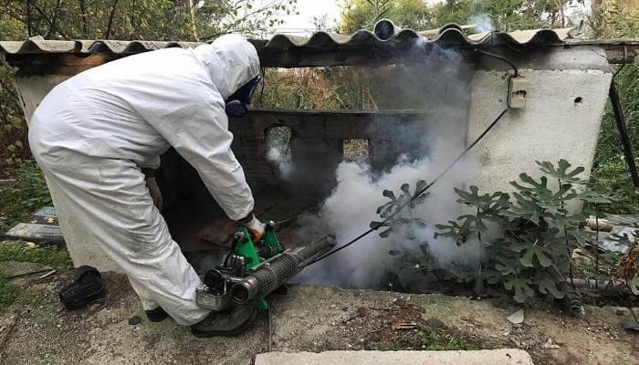 Mücavir alanlarda sıcak sisleme çalışması