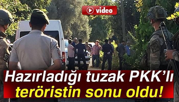 Hazırladığı tuzak PKK'lı teröristin sonu oldu