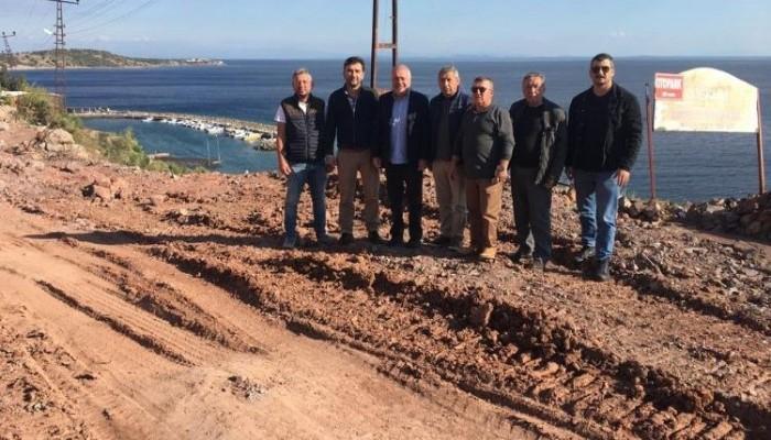 Assos Otelciler Derneği, Antik Liman'da kaya ıslahı çalışmalarını inceledi