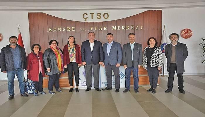 Kent Konseyinden ÇTSO'ya Ziyaret