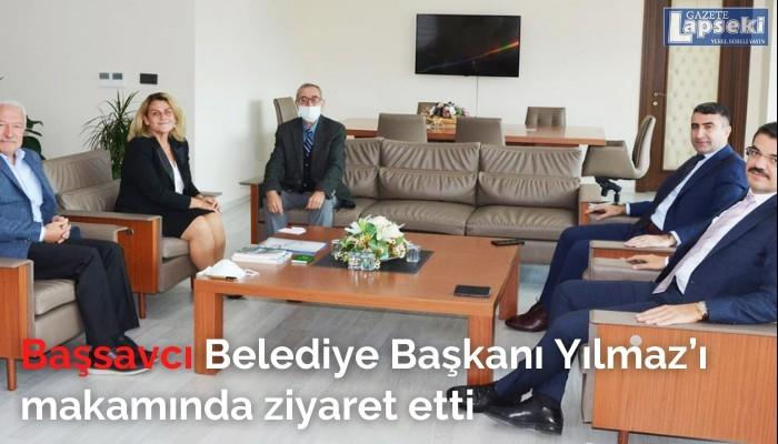 Başsavcı Belediye Başkanı Yılmaz'ı makamında ziyaret etti