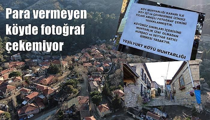 Para vermeyen köyde fotoğraf çekemiyor (VİDEO)