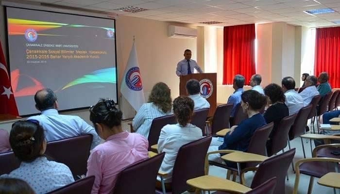 Sosyal Bilimler MYO'da Akademik Kurul Toplandı