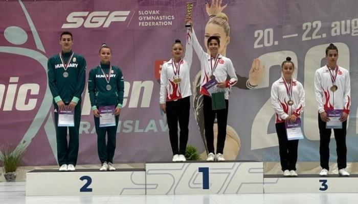 Cimnastikte 1'incilik ve 3'üncülüğü Getiren Çanakkaleli Sporcular Oldu