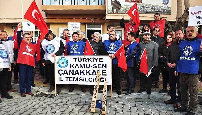 Sendika üyeleri yapılan zamları protesto etti
