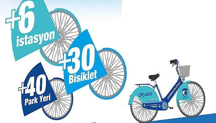 40 bisiklet park yeri ve 30 yeni bisiklet