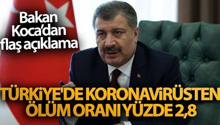 Bakan Koca'dan flaş açıklama! Türkiye'de koronavirüsten ölüm oranı yüzde 2,8