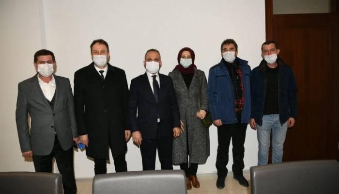 Turan Çan meclis üyeleri ile görüştü