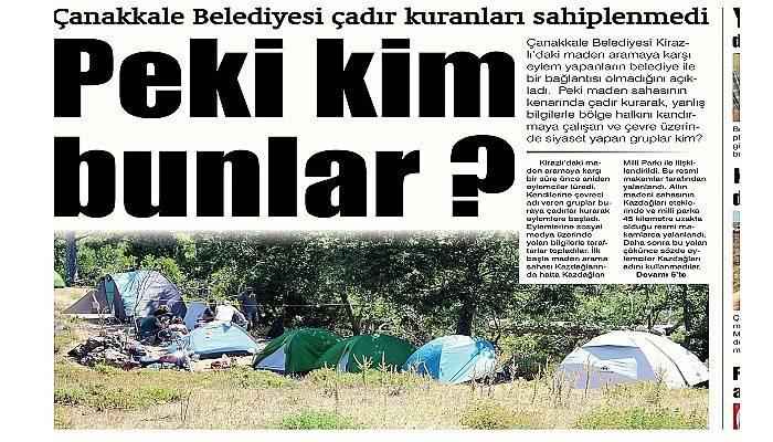 Çanakkale Belediyesi çadır kuranları sahiplenmedi Peki kim bunlar ?