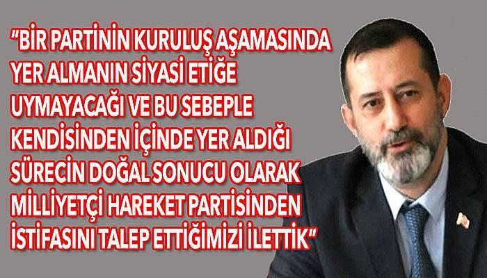 MHP İl Başkanı Pınar'dan istifa açıklaması!