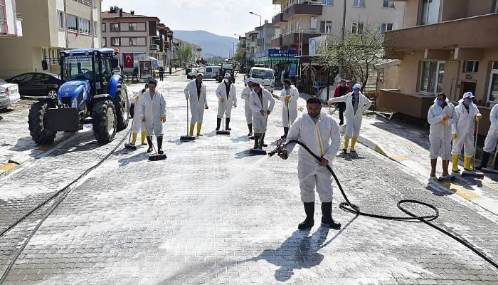 Biga Belediyesi'nden dezenfeksiyon seferberliği (VİDEO)