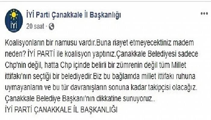 İyi Parti'den Başkan Gökhan'a: